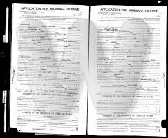 County marriage application