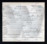 Death Certificate Adam Williams