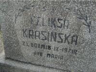 Feliksa Krasińska zd. Lewandowska nagrobek 2