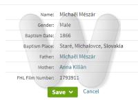 Michael Misar baptism