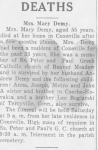 Death of Mary Boglarski Demaj
