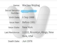 Social Security Death Index