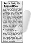 Article about Bozesko family reunion